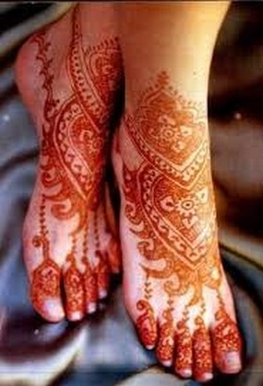 Arabic Feet Henna Creative Arty