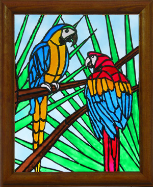 how to make glass painting frames