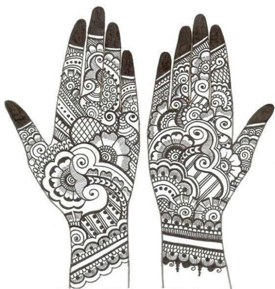 mehendi sketch creative arty. Black Bedroom Furniture Sets. Home Design Ideas