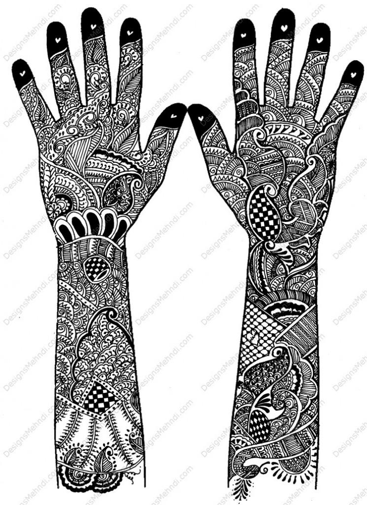 Marwari dulhan mehndi designs – Marwari bridal henna designs for wedding images