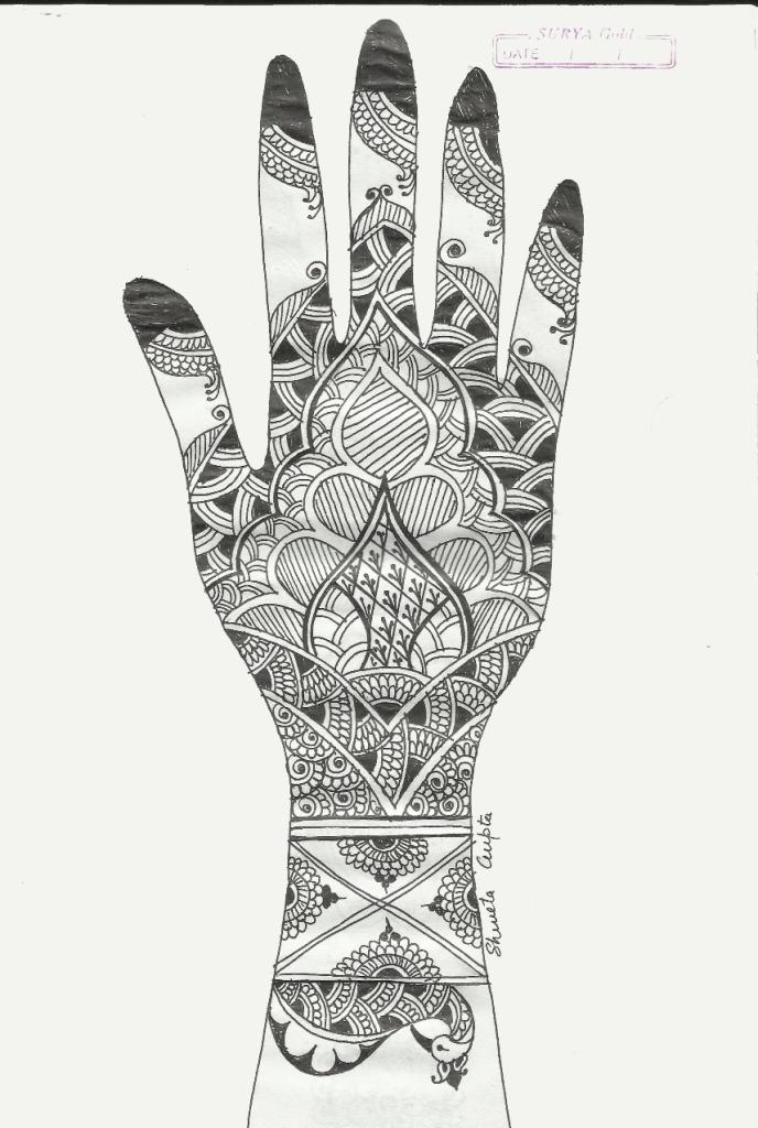 Mehndi Sketch | Creative Arty Arabic Henna Designs On Paper