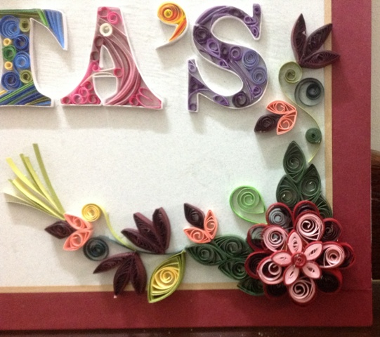 Our Name Plate Creative Arty