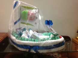 Baby Gift Hamper in shape of Boat